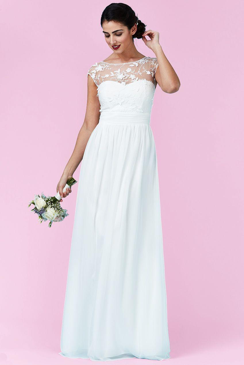 αέρινο bridal empire φόρεμα top δαντέλα 3d floral | Για αγορά ...