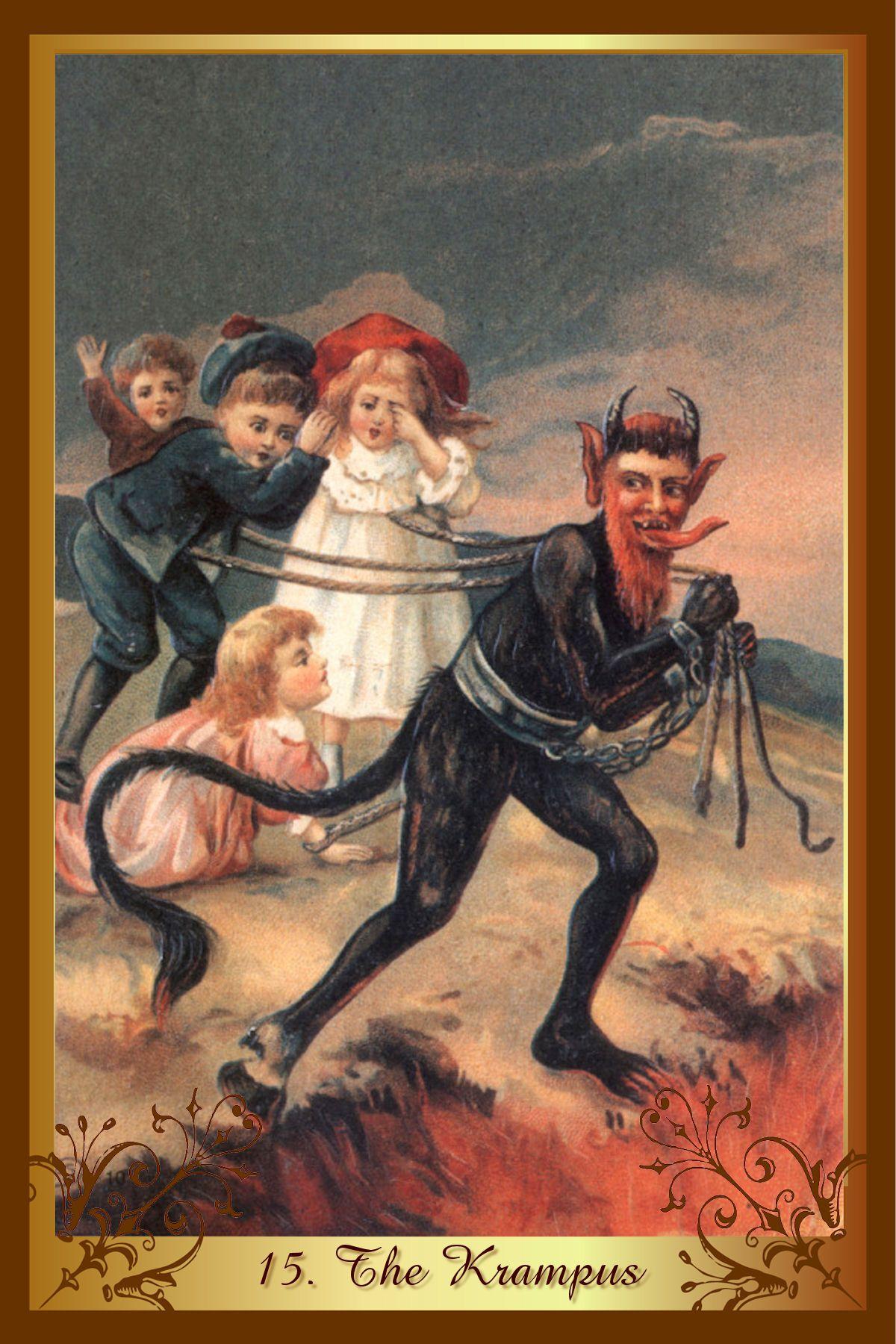 Posts About Krampus On Thehalloweenkid Krampus Vintage Postcards Creepy Christmas