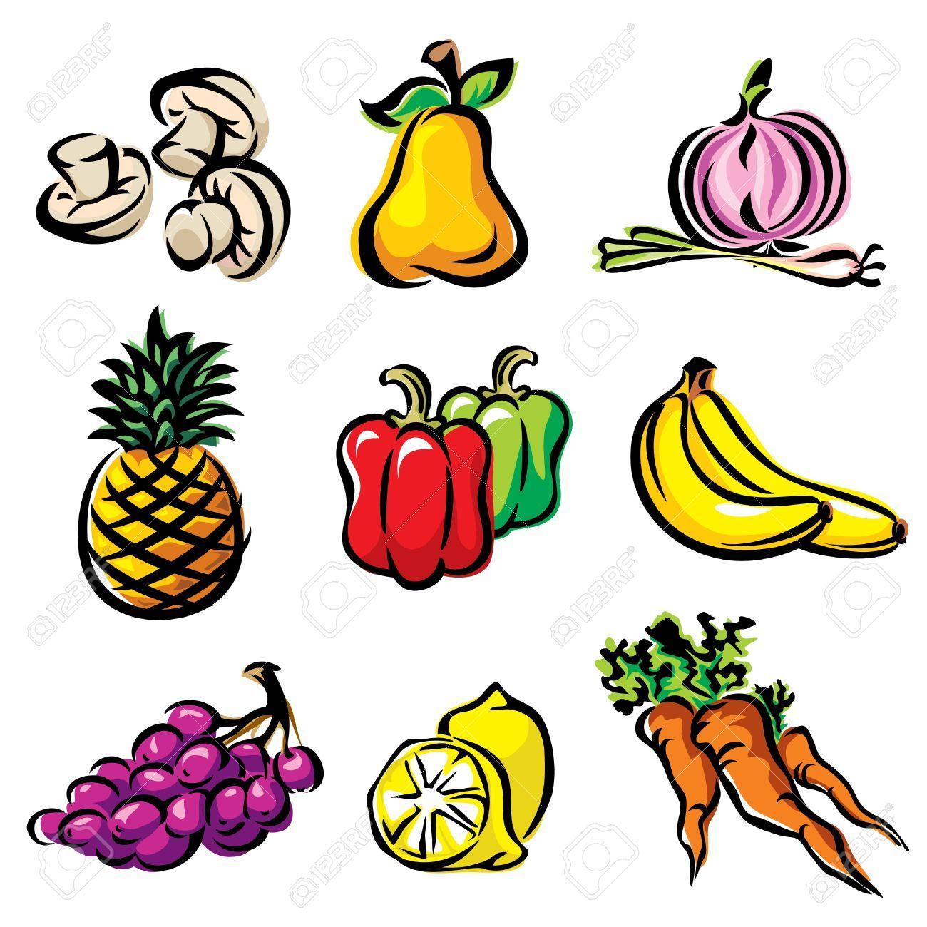 Dibujos De Frutas Y Verduras A Color Buscar Con Google Imagenes
