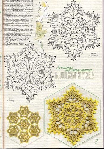 Stern häkeln / crochet star - Deckchen häkeln - crochet doily