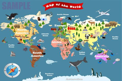World Map For Kids - Let's Explore | Fun Maps For Kids