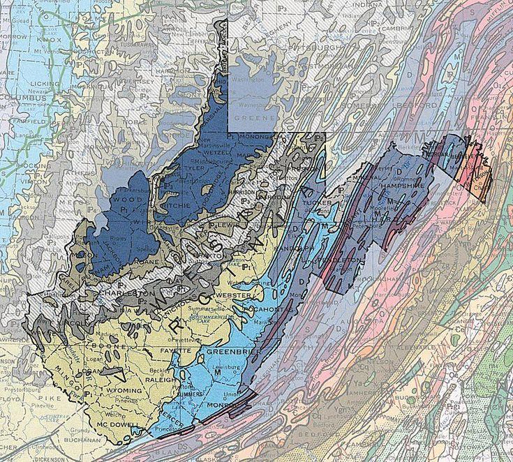 Geologic Maps of the 50 United States Virginia