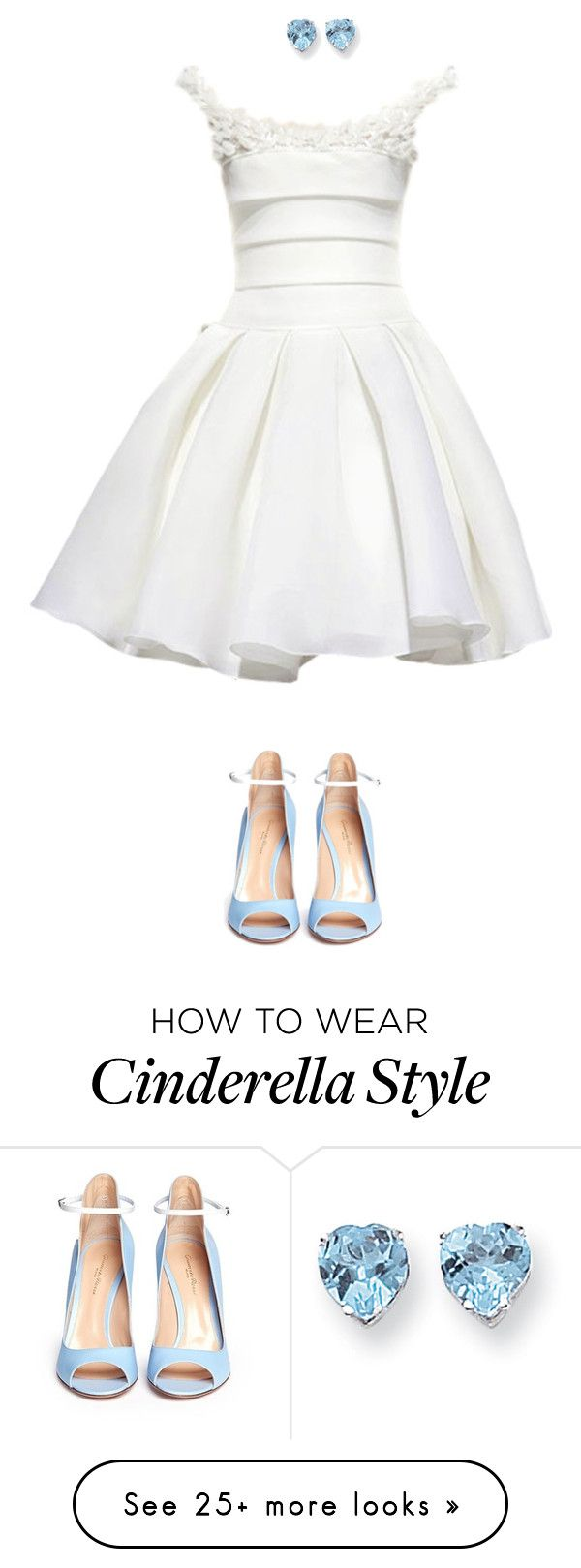 """Cinderella"" by algodaodoce9 on Polyvore featuring Kevin Jewelers and Gianvito Rossi"