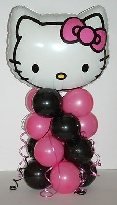 Hello kitty foil balloon display table centrepiece decorations