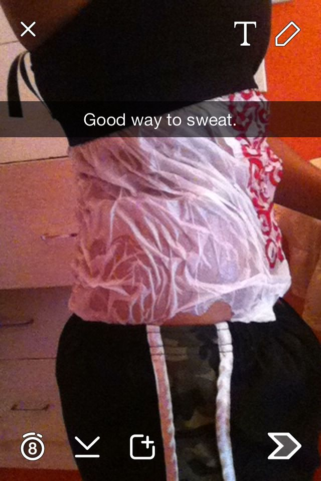 If you don't sweat when working out use a plastic bag and wrap
