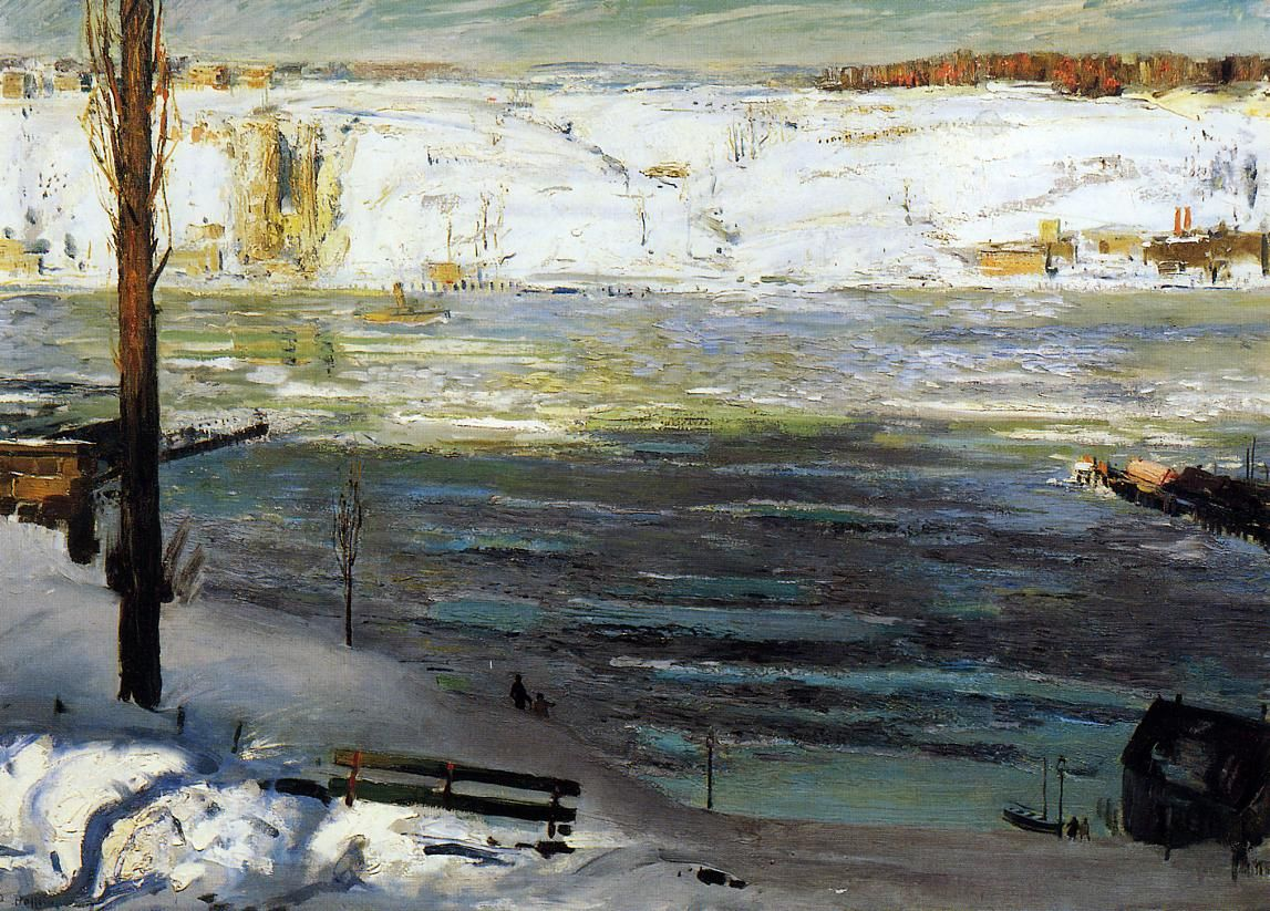 George Bellows - Floating Ice