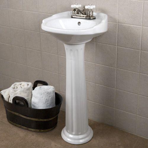 Ultra Petite Victorian Pedestal Sink 14 75 W X 14 75 D X 33 H