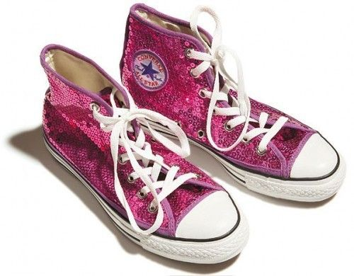 bae1a66627b58f Pink sequin Converse. I would not be at all surprised if these ended up  under my wedding gown.