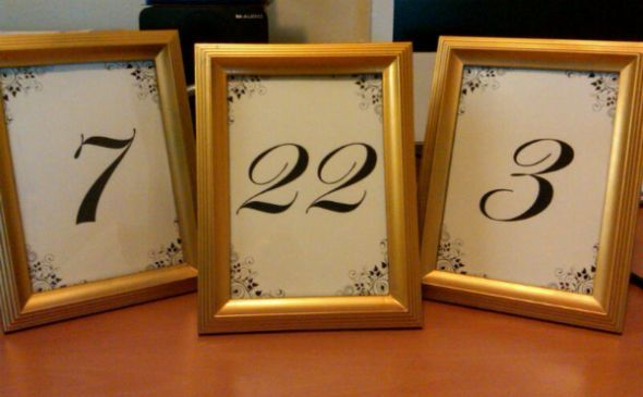 table numbers   Table Numbers :) : wedding diy frame gold ivory ...