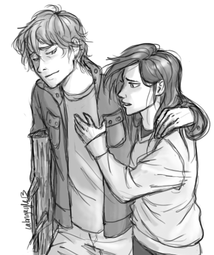 never mind about the shape I'm in by Iabri71.deviantart.com on @deviantART. Reminds me of Jamie and Raven.