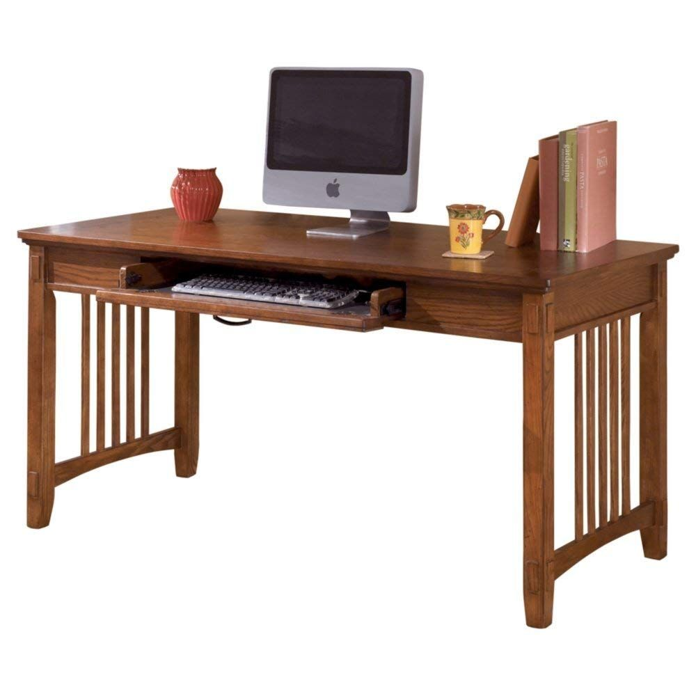 Ashley Furniture Signature Design Cross Island Large Office Desk Drop Down Keyboard Tray Casual Me Home Office Desks Large Office Desk Ashley Furniture