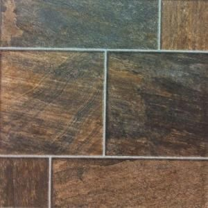 Hampton Bay Bronze Random Slate 10 Mm Thick X 15 1 2 In Wide X 46 1 2 In Length Click Lock Laminate Flooring 19 98 Sq Ft Case 844426 The Home Depot Flooring Laminate Flooring Slate Flooring