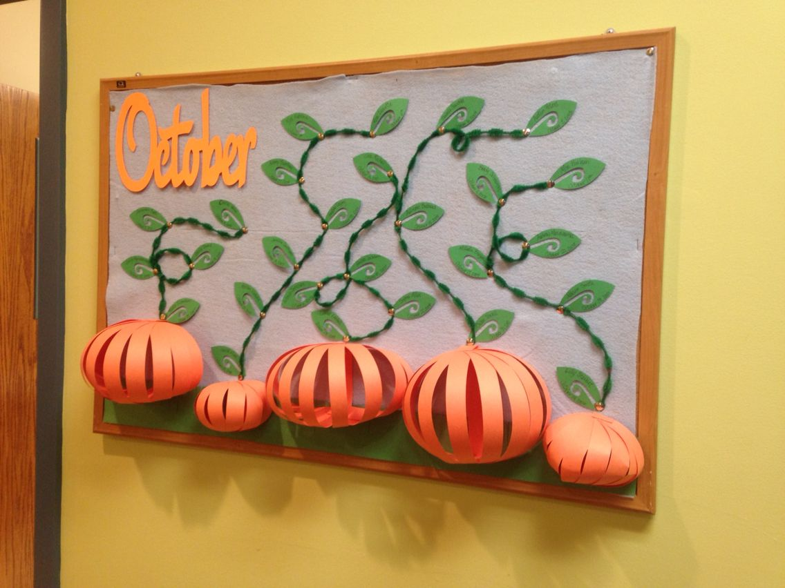 This Year S October Birthday Bulletin Board I Made The