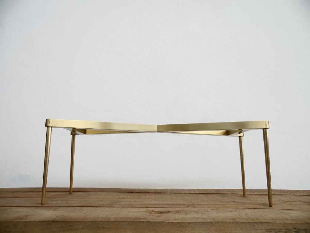 28 H X 24 W X 42 L Brass Cirid Table Base Height 26 To 32