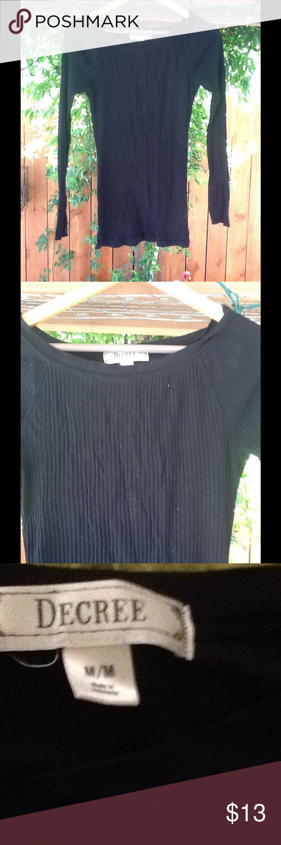 Long sleeve black sweater size Medium Well worn black sweater size medium. (14) Decree Sweaters