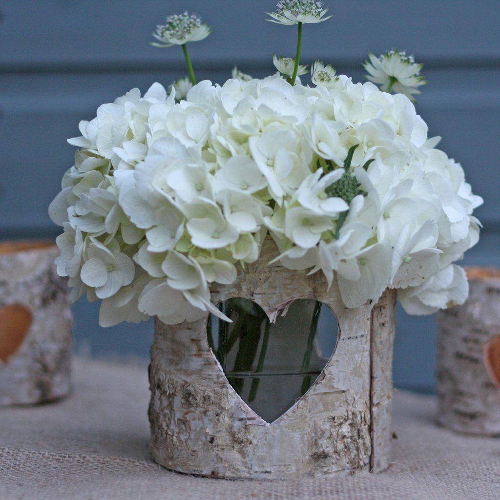 Bark Vases Wedding Table Decorations
