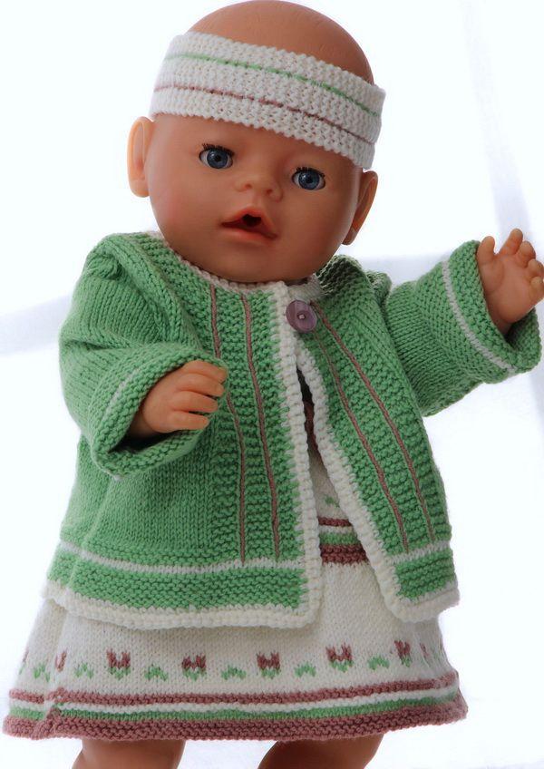 puppenkleid stricken | Puppenkleidung | Pinterest | Curiosidad, Bebé ...