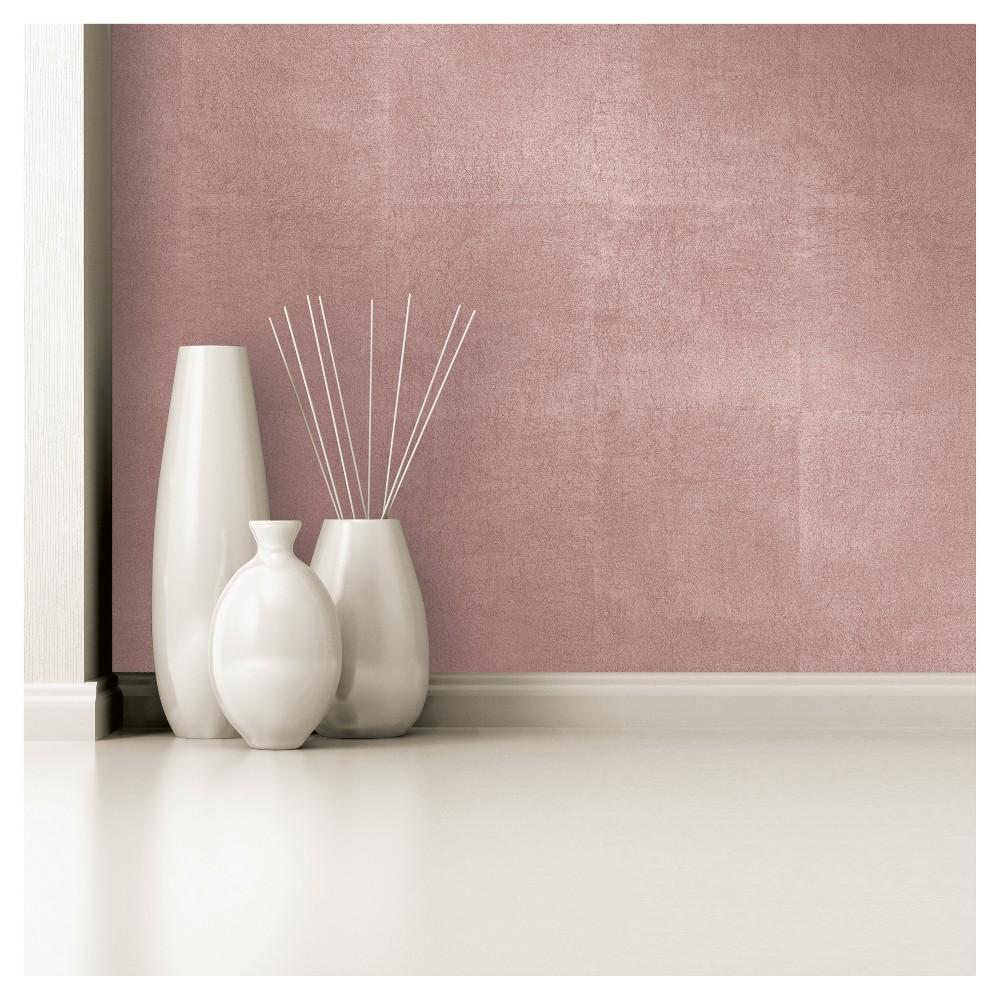 Devine Color Metallic Leaf Peel and Stick Wallpaper Rose