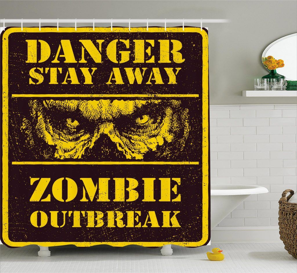 Monster Warning Shower Curtain Curtains Curtain Store Horror