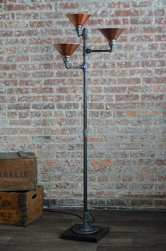 Torchiere floor lamp copper shade industrial floor lamp vjm torchiere floor lamp copper shade industrial floor lamp aloadofball Gallery