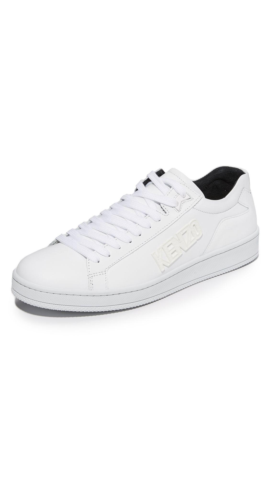 KENZO Tennix Lace Up Sneakers. #kenzo #shoes #sneakers