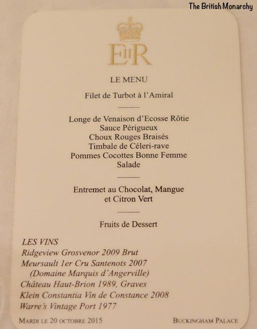 This Evening The Duke And Duchess Of Cambridge Took Part In Their First State Banquet At Buckingham Palace Description From Banquet Vintage Menu State Dinners