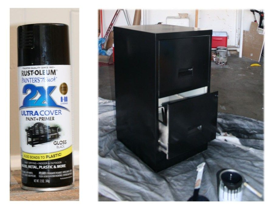 How To Spray Paint A Metal Filing Cabinet This Bold Home Metal Filing Cabinet Painting Metal Cabinets Filing Cabinet