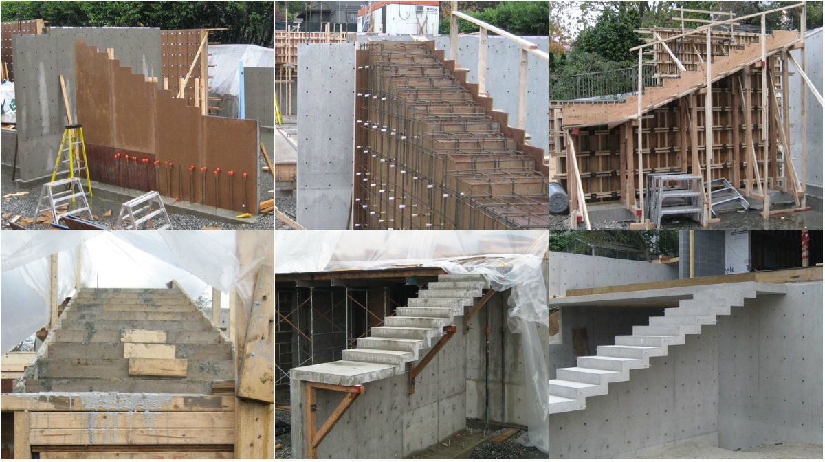 Cantilevered Concrete Stair which is Self Supporting can