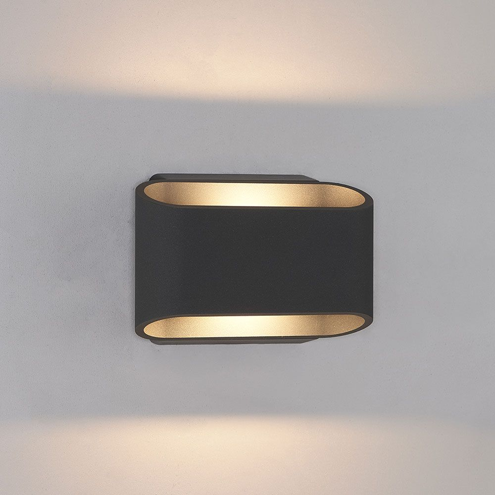 Bruck 105050bk Eclipse Contemporary Black Led Outdoor Wall Sconce Bru 105050bk Outdoor Wall Sconce Wall Sconces Decorative Wall Sconces Candle Holders