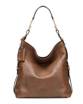 30e53ae0ae96 Harness Leather Hobo Bag