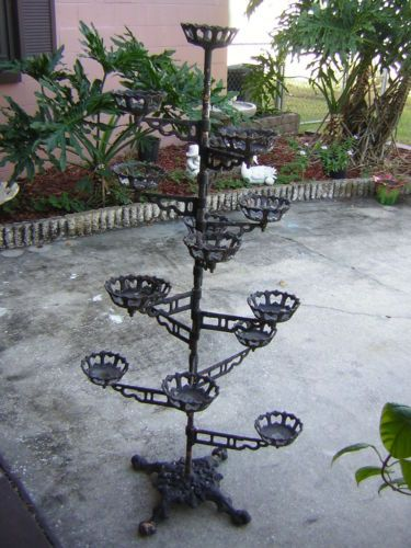 Antique Cast Iron Victorian Plant Stand 1850 S 1900 S Plant