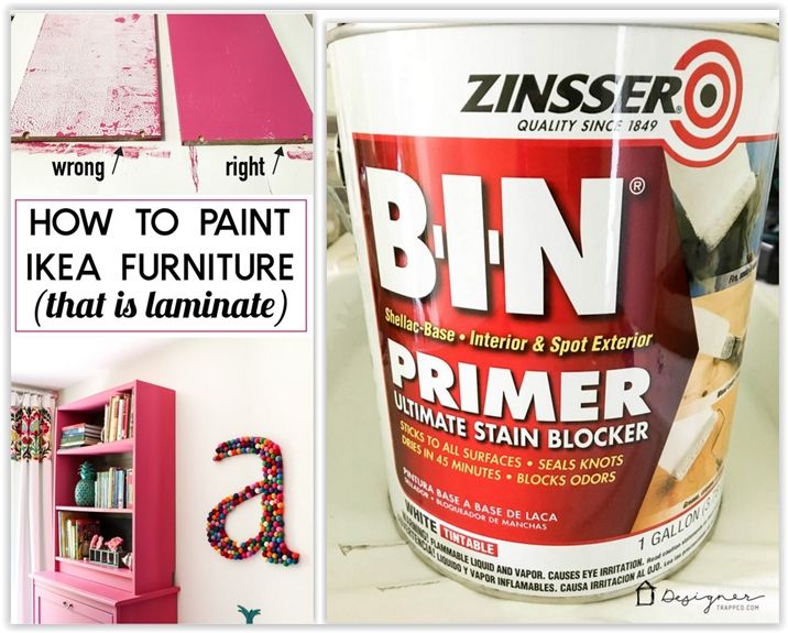 Tricks To Painting Ikea Furniture What Not To Do Designer Trapped Painting Ikea Furniture Painting Laminate Furniture Painted Furniture