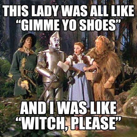 Which please! #rubyredslippers #wizardofoz #dorothy #noplacelikehome