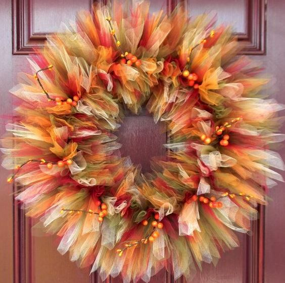 Make Your Own Beautiful DIY Fall Tulle Wreaths, It's EASY