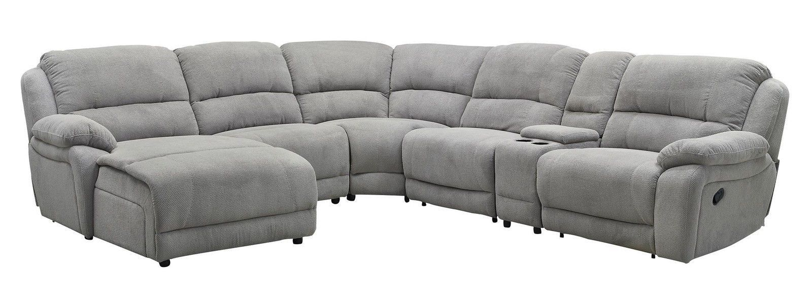 Best Mackenzie Silver 6 Piece Reclining Sectional Sofa With 640 x 480