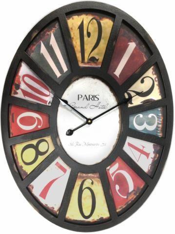 Earth De Fleur Homewares Wall Clock Paris Grand Hotel Uhren