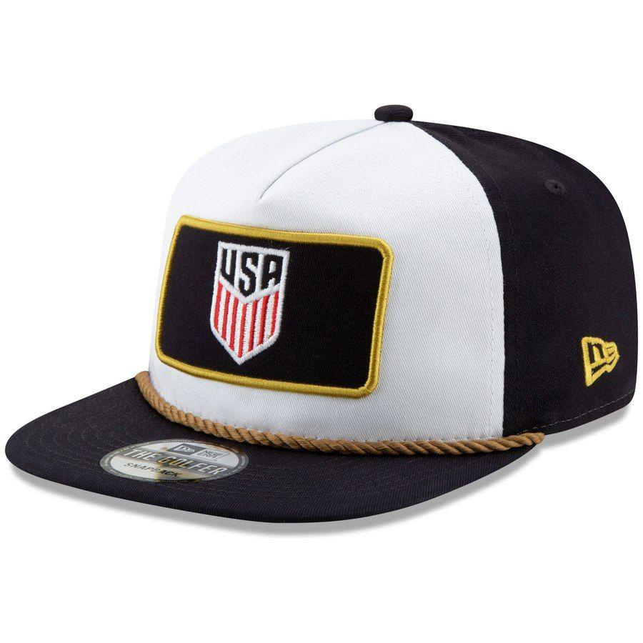 25dc9d0970b Men s US Soccer New Era White Navy Golfer Snapback Hat