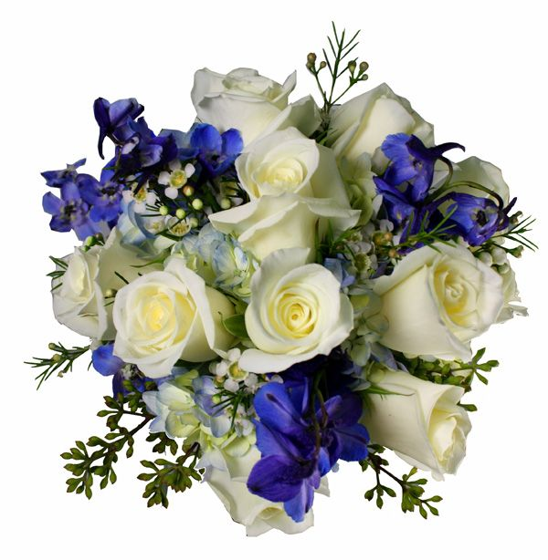 Blue And White Flowers For Weddings: Blue And White Wedding Flowers