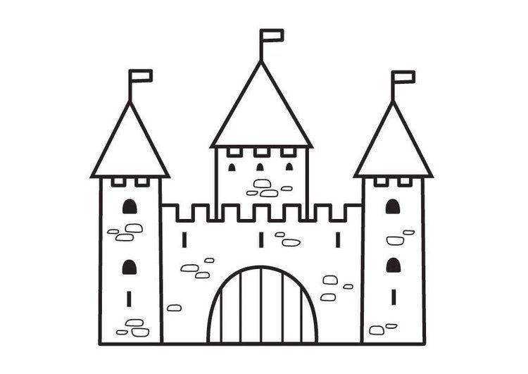 dibujo para colorear castillo 2  arte  pinterest