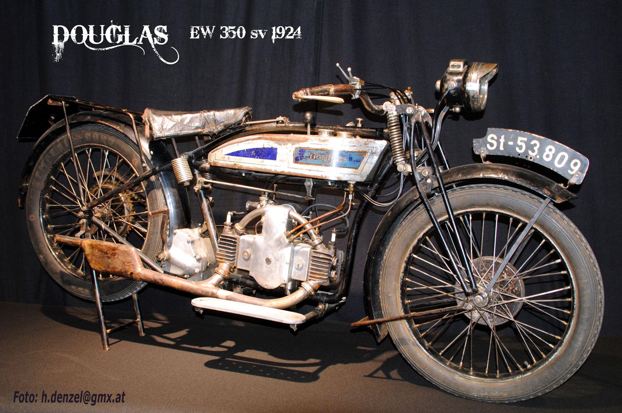Douglas Ew 350 1924 Old Motorcycles Vintage Motorcycle Motorcyle