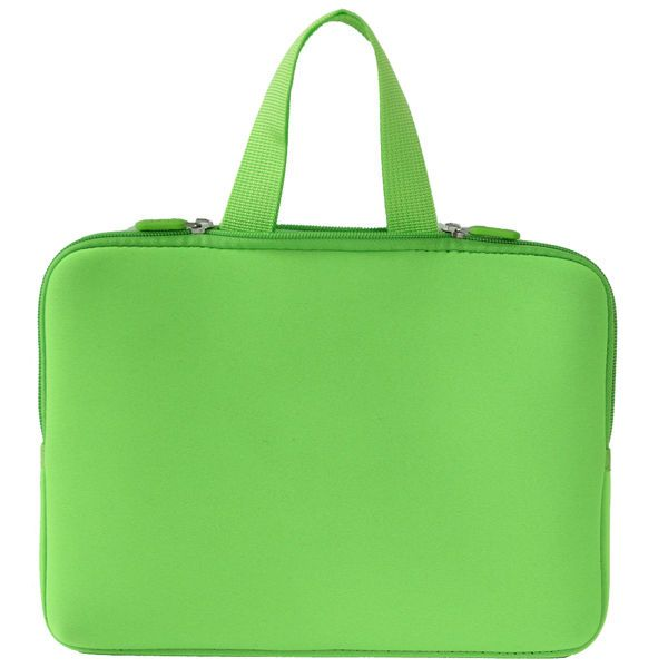 """Green 13"""" Laptop Sleeve Bag Hide Handle For 13.3"""" Dell Apple Macbook Pro Air"""
