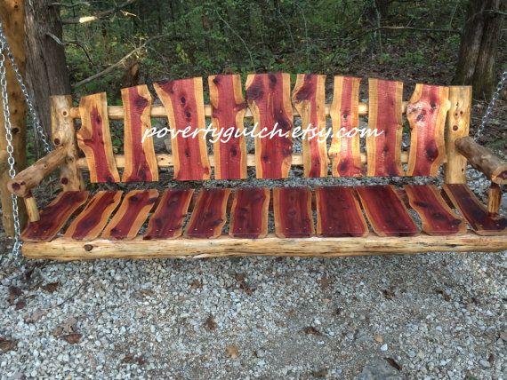 2105 Rustic Aspen Porch Swing Rustic Outdoor Furniture Porch Swing Log Furniture