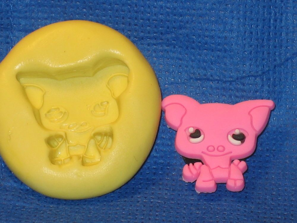 Pig Character Silicone Push Mold 459 For Chocolate Topper Fondant Resin Gumpaste #LobsterTailMolds