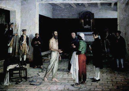 Tiradentes ante o carrasco, 1941 Rafael Falco (Oran, 1885- São Paulo 1967) óleo sobre tela,  70 x 55 cm Museu da Câmara dos Deputad...