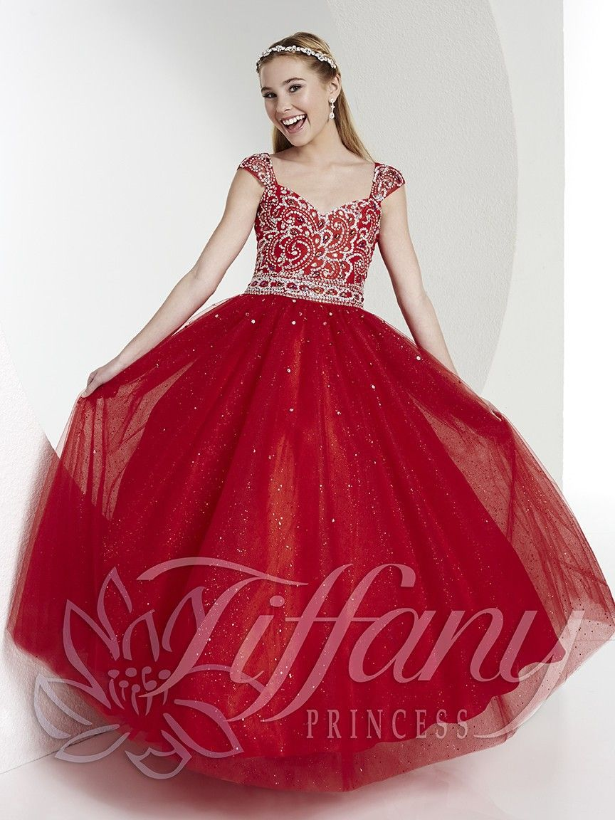 Red Pageant Gown For Tween | Tiffany Princess Tween Pageant Gown ...