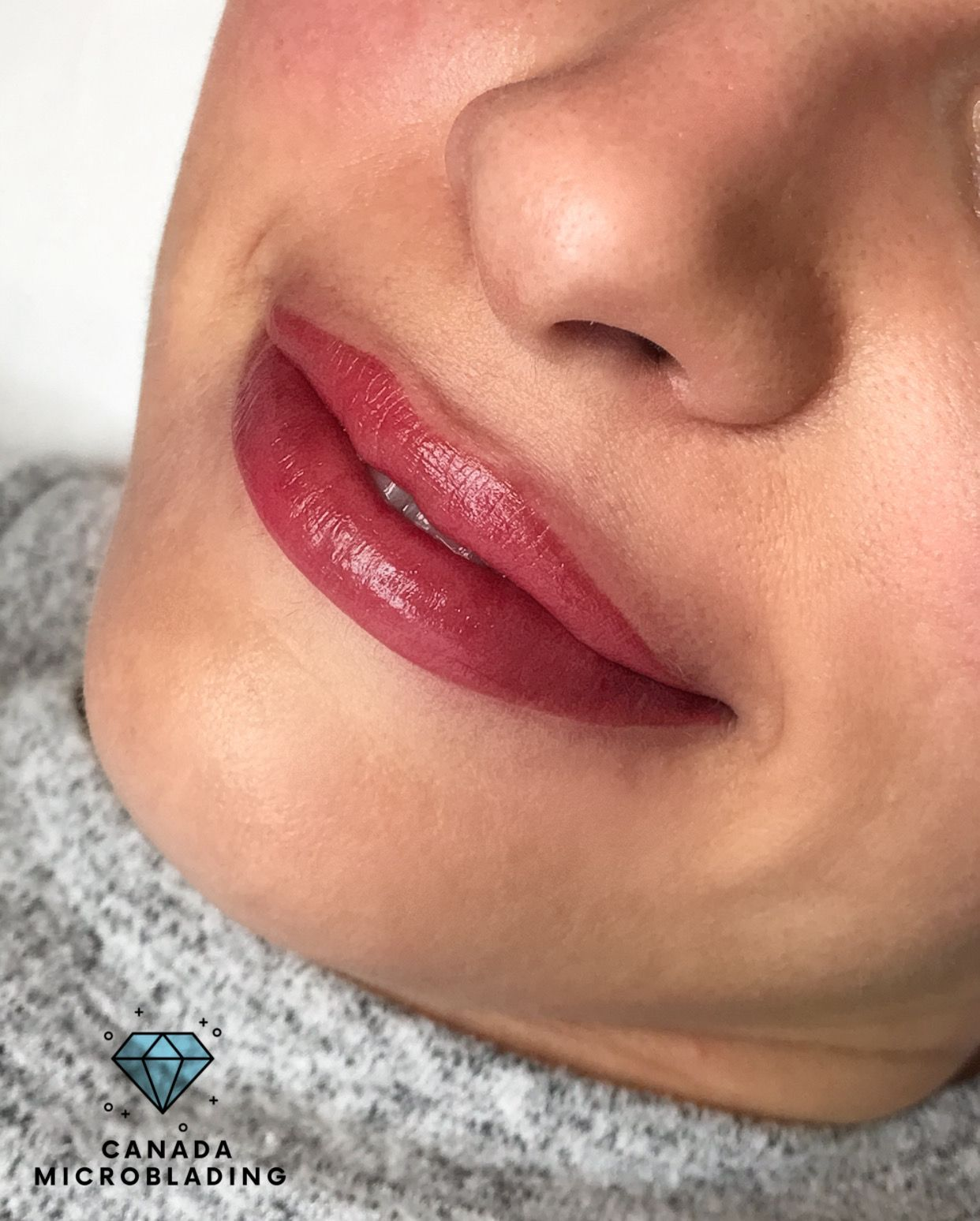 This Beautiful Lip Tattoo Was Done By Aquarelle Technique The