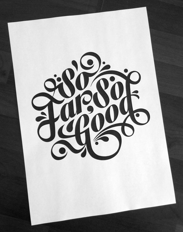 So Far, So Good by Tom Ritskes, via Behance | Art | Chalkboard art