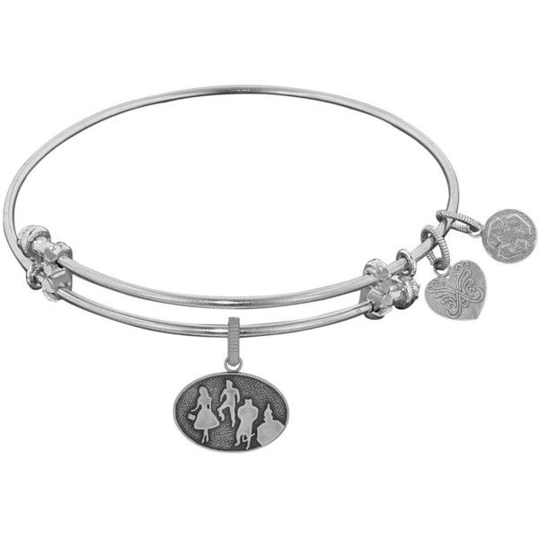 Angelica Wizard Of Oz Silhouette Charm Bangle Bracelet ($32) ❤ liked on Polyvore featuring jewelry, bracelets, yellow, charm bangles, lion jewelry, yellow bangle bracelet, clasp charms and lion charm