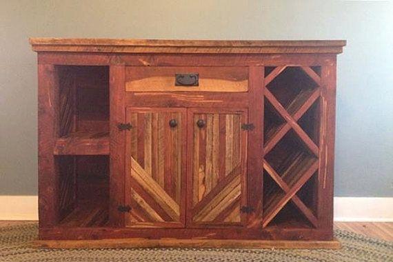 Liquor Cabinet Wine Bar Dry Wood Rack Wooden Storage