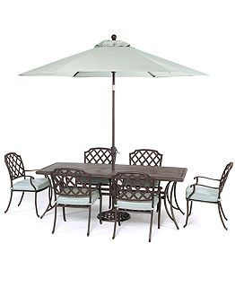 Nottingham Outdoor Patio Furniture 7 Piece Set X Dining Table And 6 Chairs